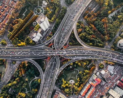 aerial-photography-of-concrete-roads